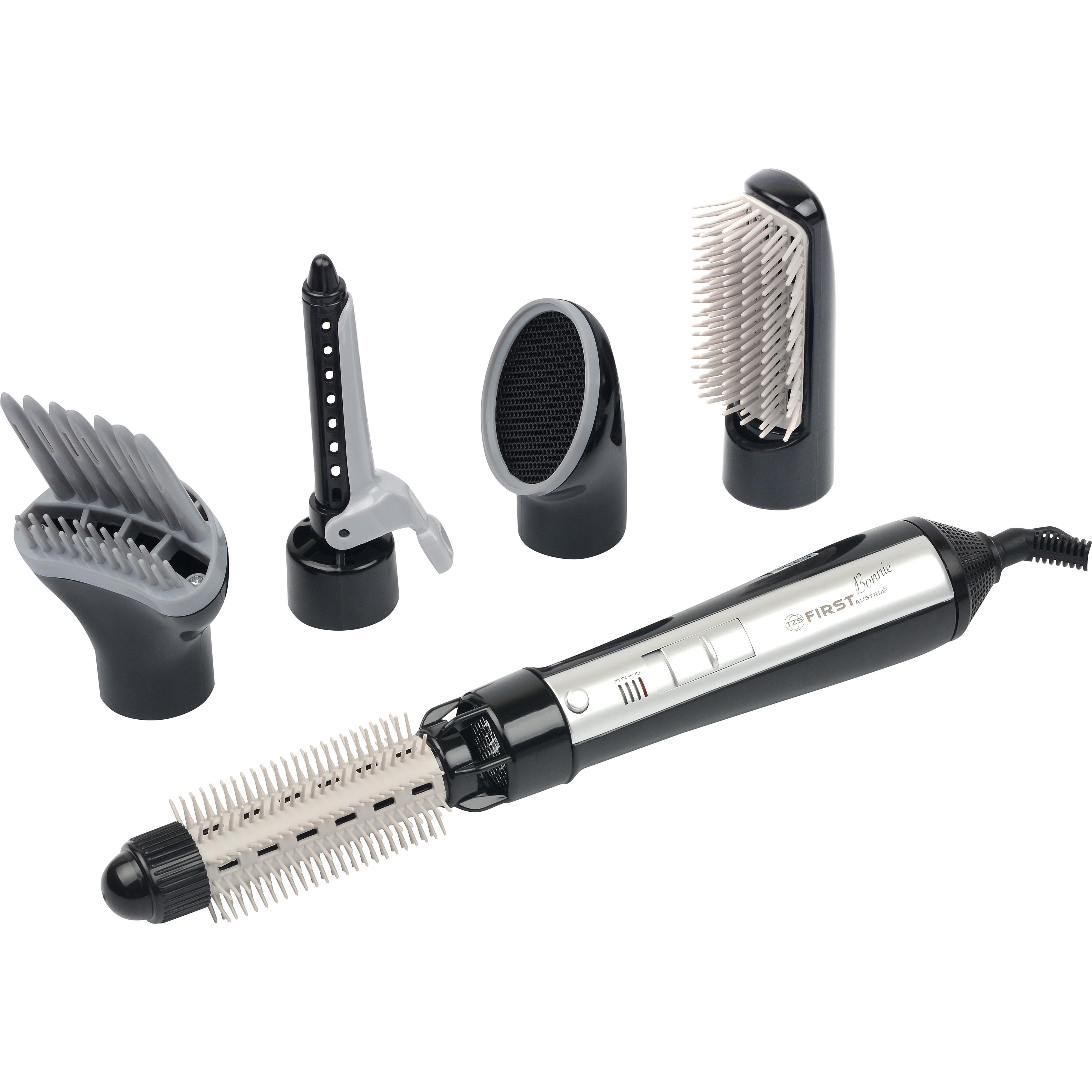 Набор для укладки FIRST 5651-1 BlackПлойки и выпрямители<br>Фен-щетка First FA-5651-1 - идеальное устройство для создания объемных и пышных причесок, которое незаменимо при работе с короткими или средними по длине волосами.<br>