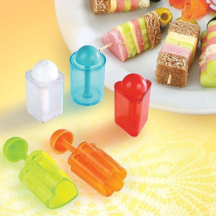 Набор для канапе - 5 разных фигурДля канапе и карвинга<br>Собираетесь устроить вечеринку? Предлагаем вам разнообразить праздничный стол не просто новыми закусками, но и красотой в оформлении. Набор для канапе – это шанс удивить своих близких людей и внести новых красок в праздник!<br>