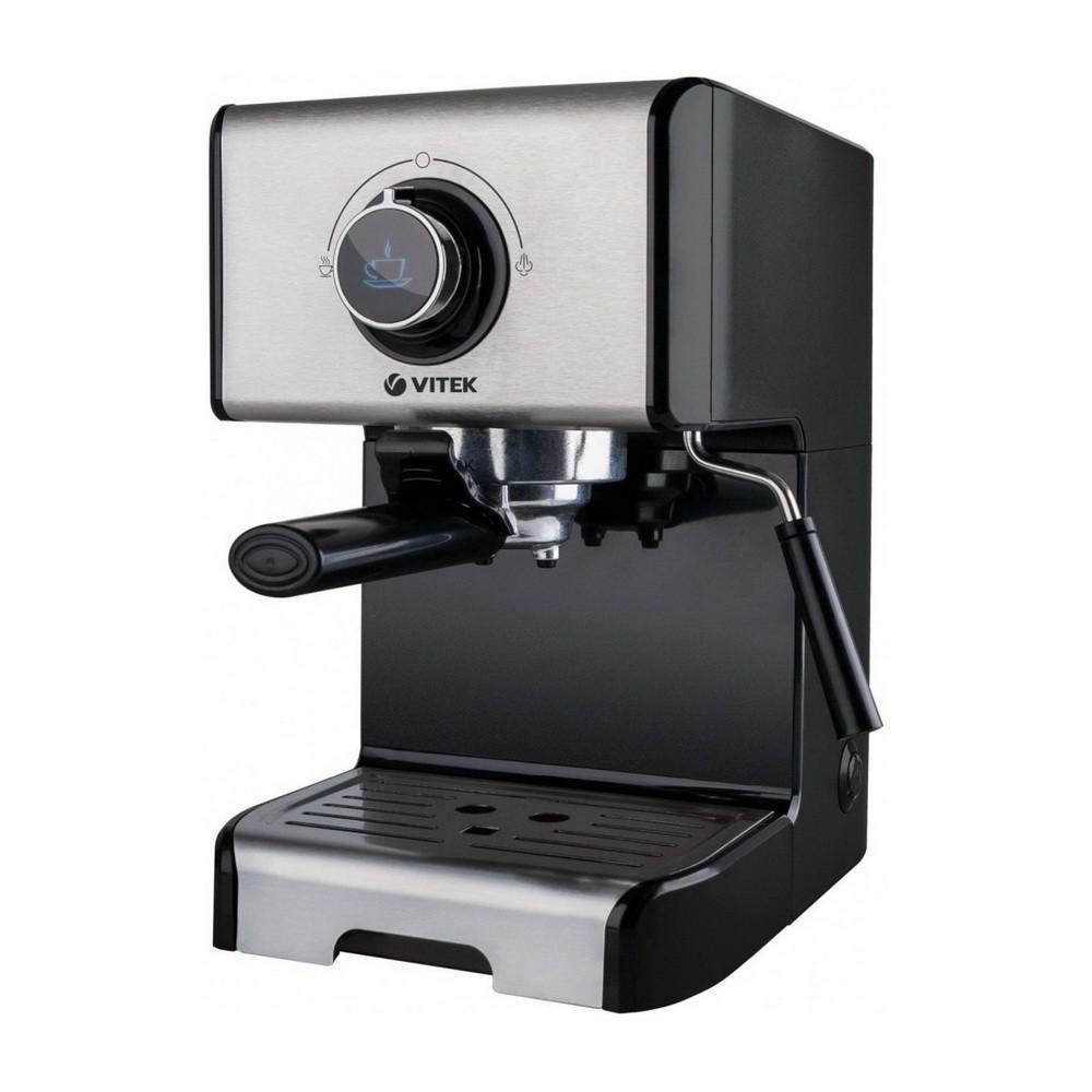 Кофеварка Vitek VT-1518, 1250 Вт, 15 бар, съёмный резервуар для воды 1,2 л фото