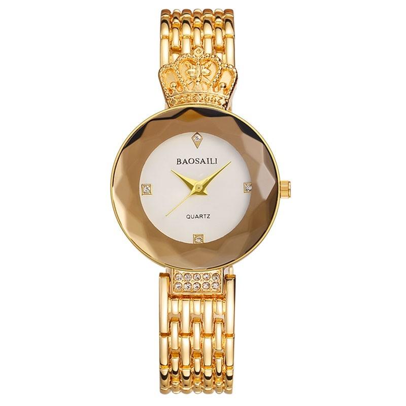 Элитный бренд baosaili для женщин часы нержавеющая сталь часы для женщин дамы стразы аналоговые.