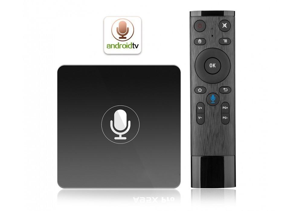 Приставка Смарт ТВ — Invin W6 2G/16Gb (Android TV Box) + ПДУ с голосовым вводом
