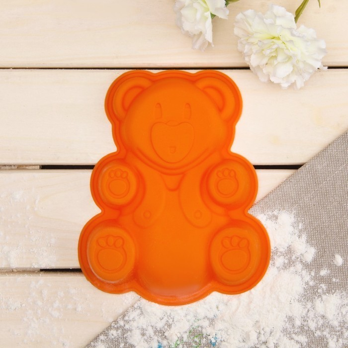 Форма для пирога Regent Inox — Медвежонок, 26х23,5х4 см, Silicone