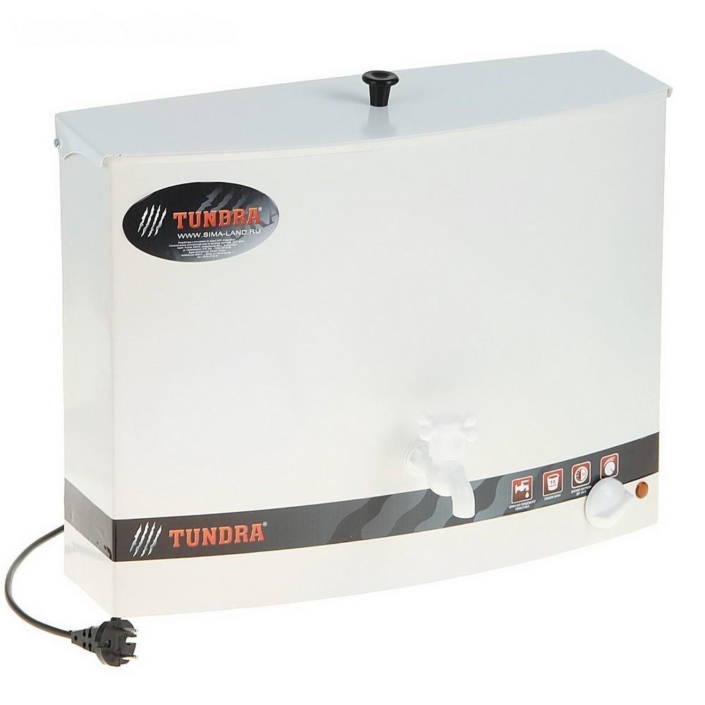 Бак настенный Tundra, с электроводонагревателем, 15 л, белыйУмывальники<br>Часто сталкиваетесь со сложностями в графике подачи горячей воды? Дача не подключена к системе ГВС? Забудьте о неудобном и мучительно долгом подогревании воды в кастрюлях. Обеспечить полноценное автономное горячее водоснабжение вам поможет настенный бак с электроводонагревателем!<br>