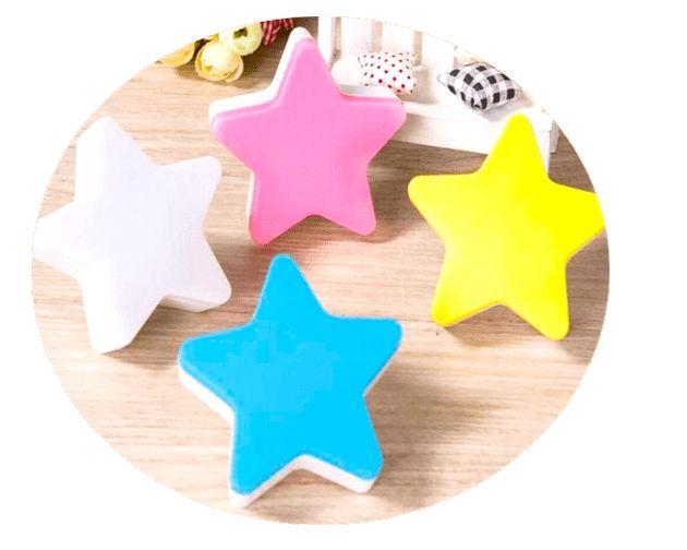 Ночник светодиодный от сети - Звезда, цвет микс