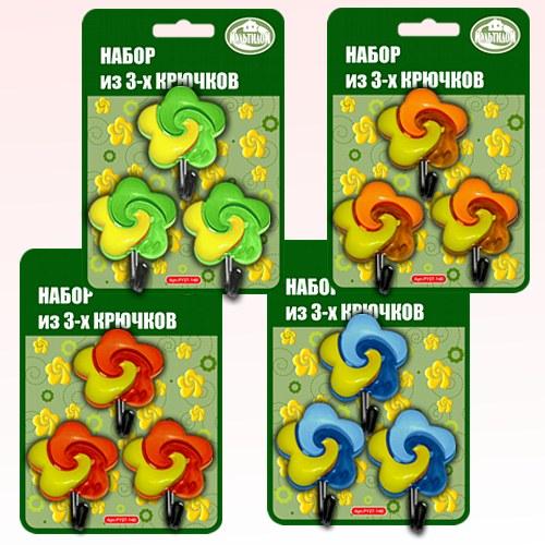 Набор крючков - Цветочки, 3 шт от MELEON