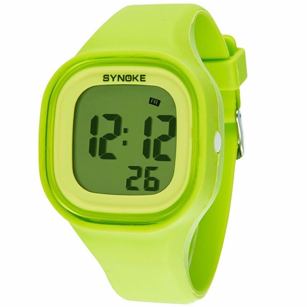 Силиконовые LED часы SHORS SH-689 зеленые