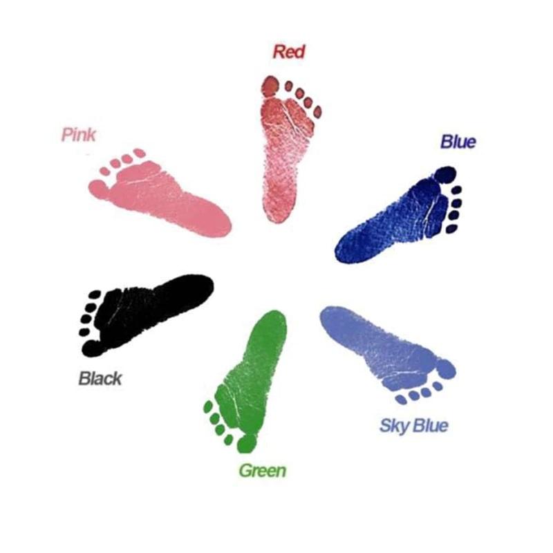 Купить Набор на память - Отпечаток (ножка, ручка), 10, 8х15, 3 см, светло-синий, Товары для новорожденных