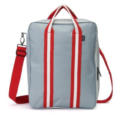 Складная дорожная сумка для путешествий с плечевым ремнём, 28х13х36 см, серый