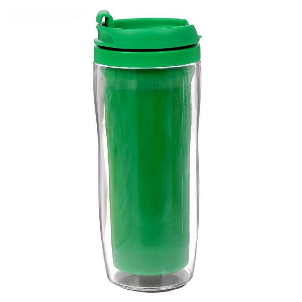 Термостакан под полиграфическую вставку, 350 мл, цвет в ассортименте, зелёный