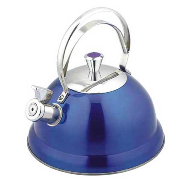 Чайник мет. BEKKER DeLuxe 440-ВКЧайники металлические<br>Чайник со свистком Bekker BK-S440 — это объемный чайник на 2,6 л, который сделан из нержавеющей стали.<br>