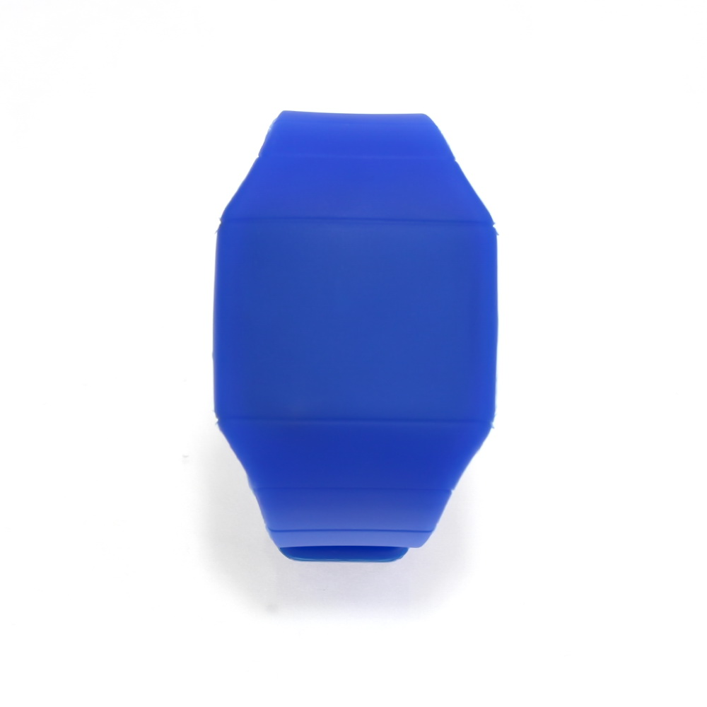 Ультратонкие силиконовые LED часы Nexer G1206, синие