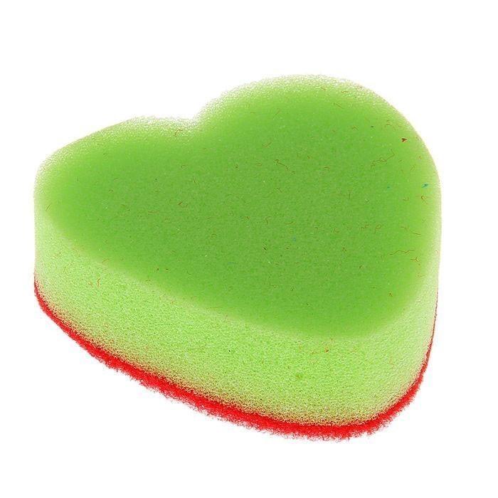Губка для мытья посуды - СердцеНе любите мыть посуду и вечно перекладываете рутинную работу на членов семьи? Благодаря губке «Сердце» вам обеспечено хорошее настроение!<br>