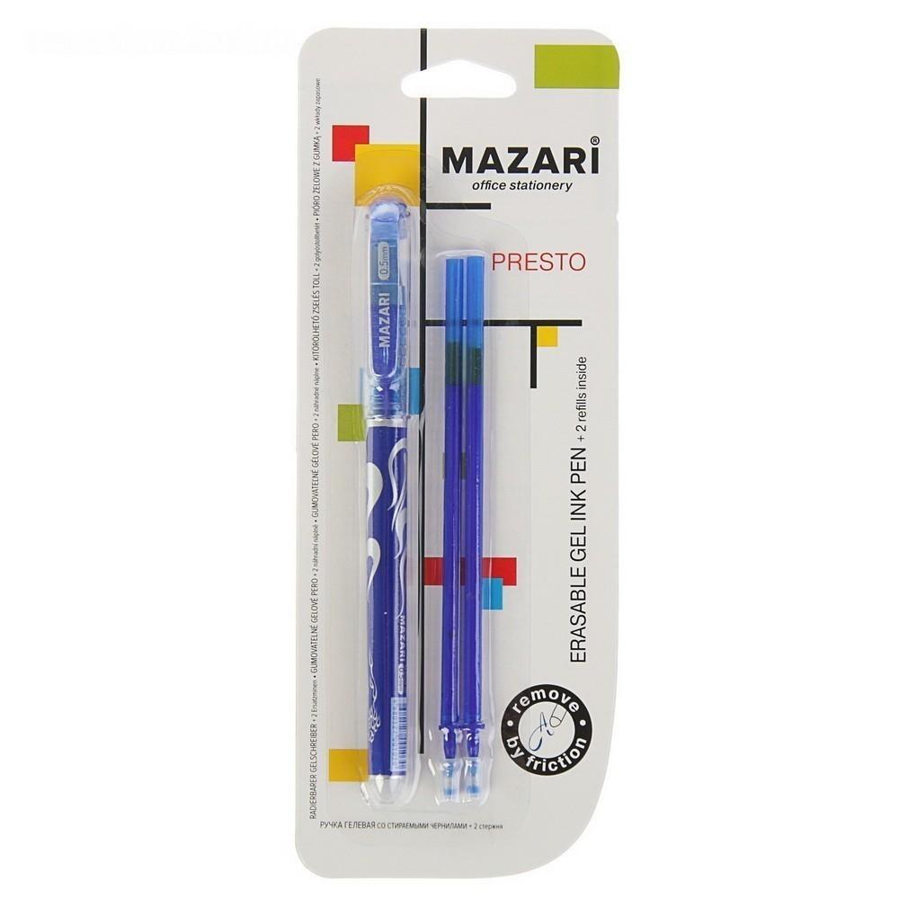 Ручка — Пиши-Стирай, гелевая Prestige, узел 0.5 мм, чернила синие , набор + 2 стержня