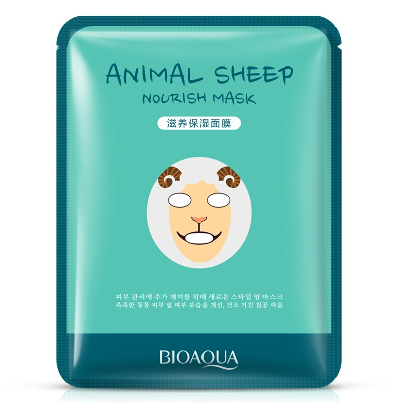 Питательная маска для лица BioAqua Animal Face Sheep