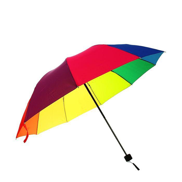 Зонт механический — Радуга, ветроустойчивый