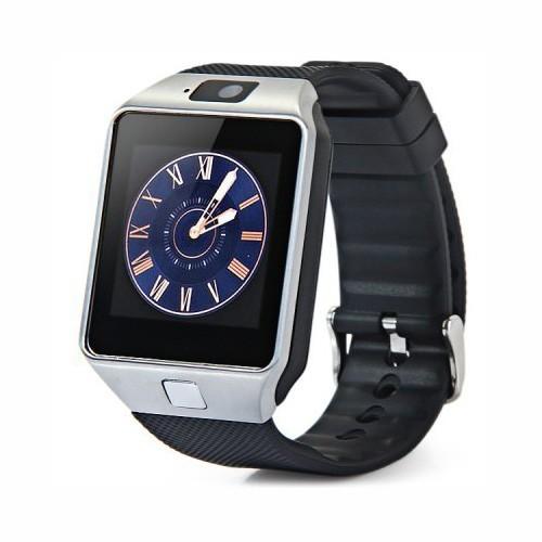 Умные часы DZ09 — Smart Watch DZ-09 — серебро, черный ремешок