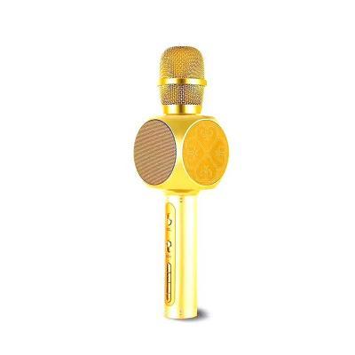 Беспроводной караоке микрофон Magic Karaoke YS-63 с изменением голоса, золото