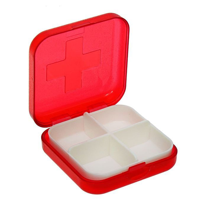 Таблетница - 4 секции, цвет миксКонтроль состояния здоровья<br>Часто забываете выпить нужную таблетку из-за чрезмерной занятости на работе или насыщенного графика? Не беда! Вам поможет революционная таблетница на 4 секции. Достаточно потратить несколько минут, чтобы распределить нужные препараты по отсекам! Вам больше не придется судорожно искать нужное лекарство по всей сумке или вспоминать, не пропустили ли вы прием пилюли!<br>