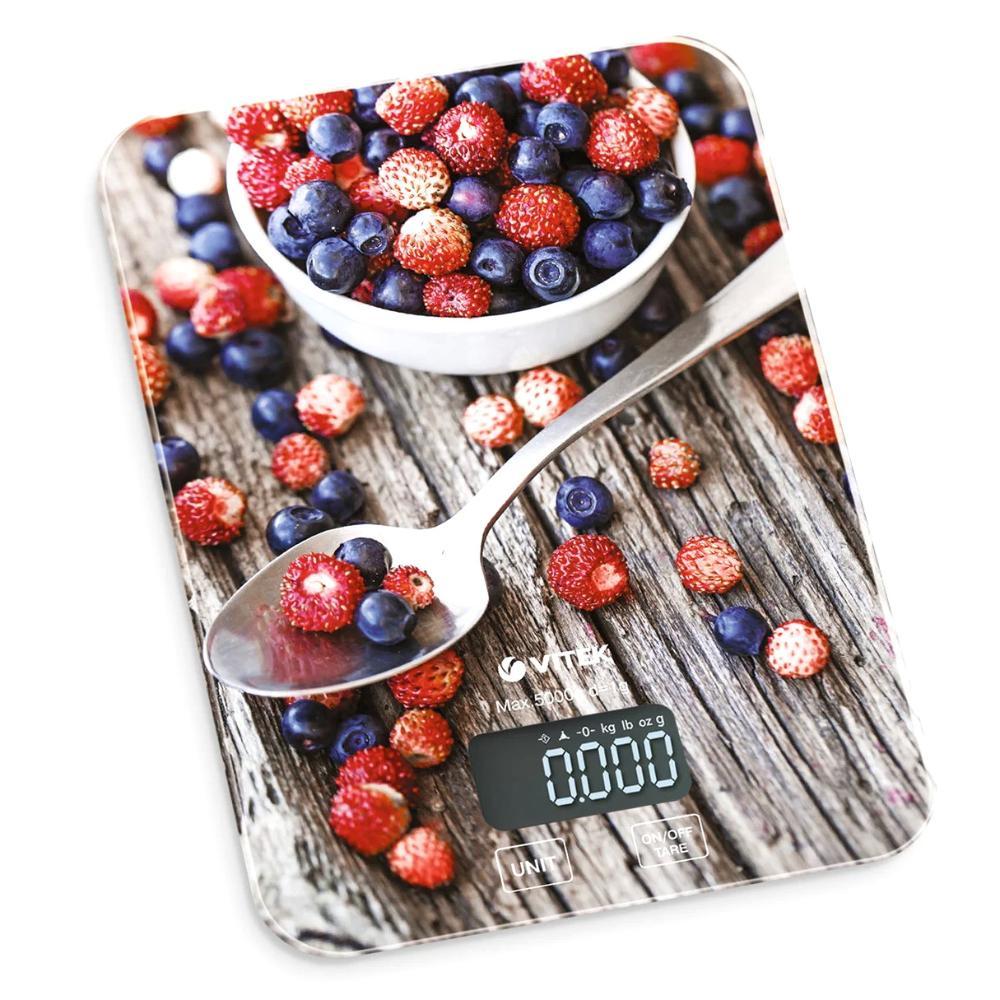 Весы кухонные VITEK Максимальный вес 5 кг, Цена деления 1г.LCD дисплей 57х25.6 mm. 8000 (MC)