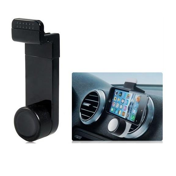 Держатель телефона в авто на воздуховодДержатели для смартфонов<br>Больше Ваш телефон никогда не упадет и не повредится в автомобиле! Для этого не нужно выдумывать никаких приспособлений, ведь инновационный держатель телефона в авто на воздуховод справится с этой задачей лучше всего!<br>