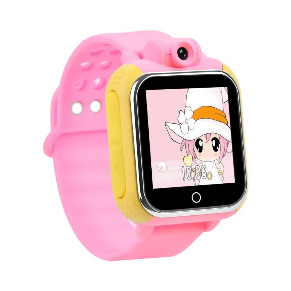 Умные детские часы Q100 c GPS трекером и камерой, розовый