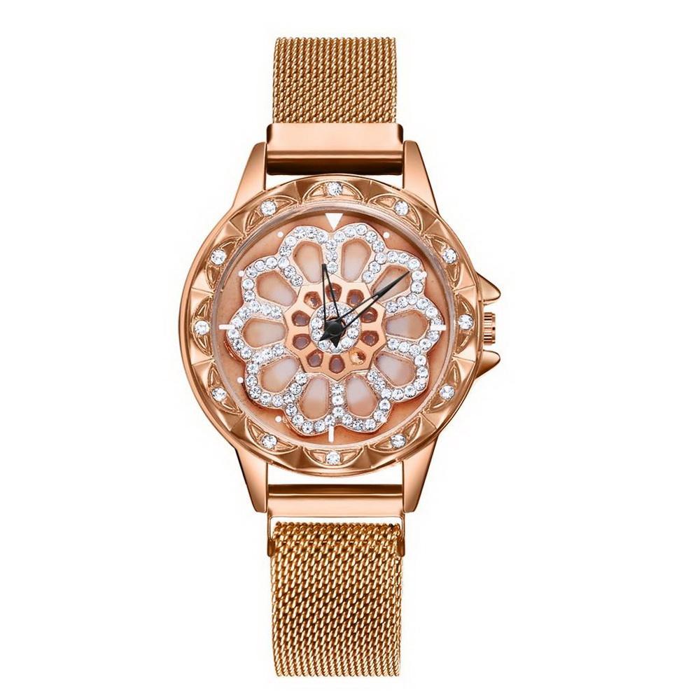 Наручные кварцевые женские часы Gedi, золото