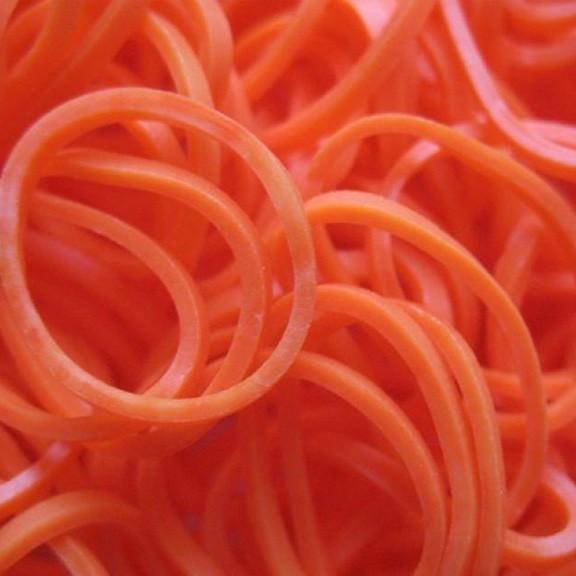 Набор ароматизированных резинок - 600 шт, темно-оранжевый