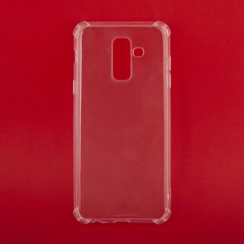 Силиконовый чехол «LP» для Samsung A6+ SM-A605 ударопрочный TPU Armor Case (прозрачный) европакет  - купить со скидкой