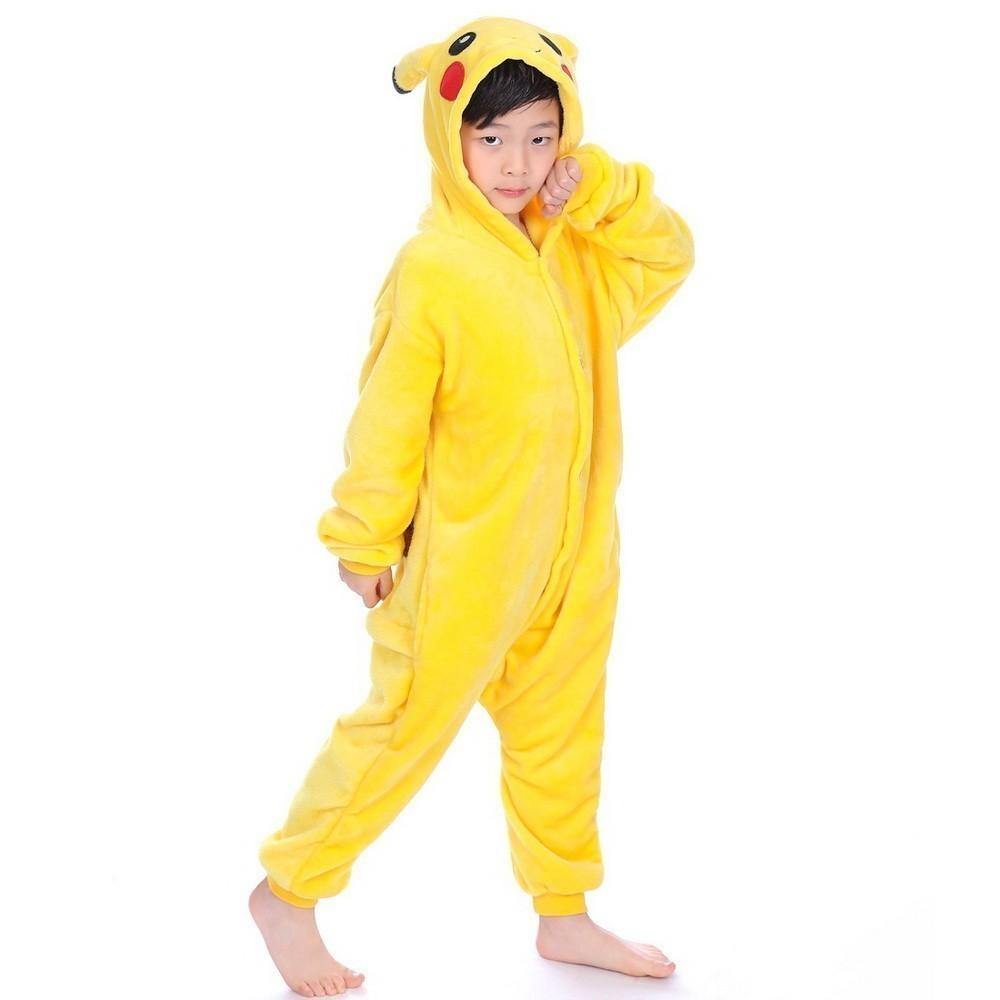 Пижама кигуруми Пикачу, детский, 6-7 лет (115-125 см)