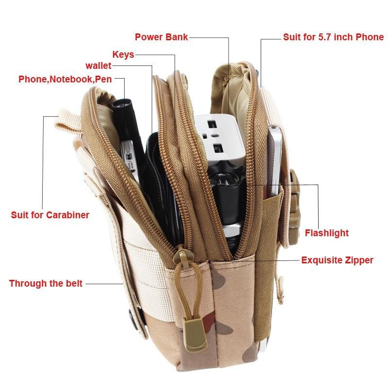 Удобная поясная сумка на ремень - черная от MELEON