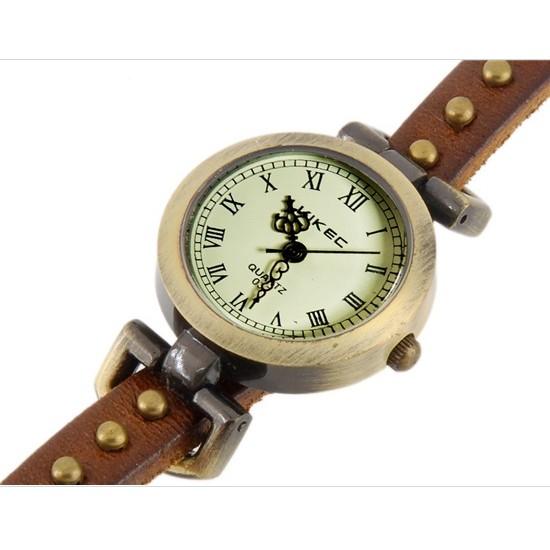 Часы браслет эко-кожа - 3 петли - Rivet, Коричневый