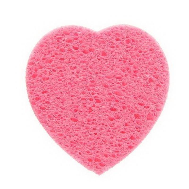 Спонж для умывания - Сердце, цвета микс