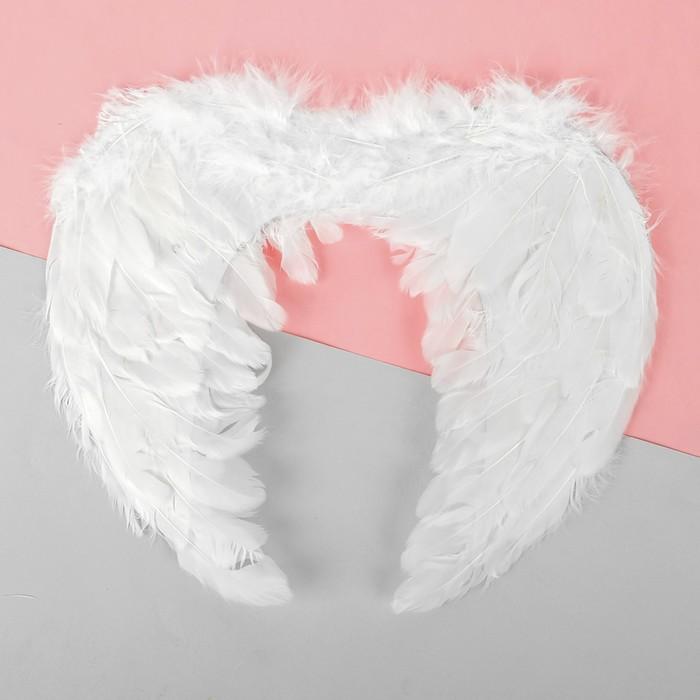 Купить Крылья ангела детские, на резинке, цвет белый, Товары для вечеринки