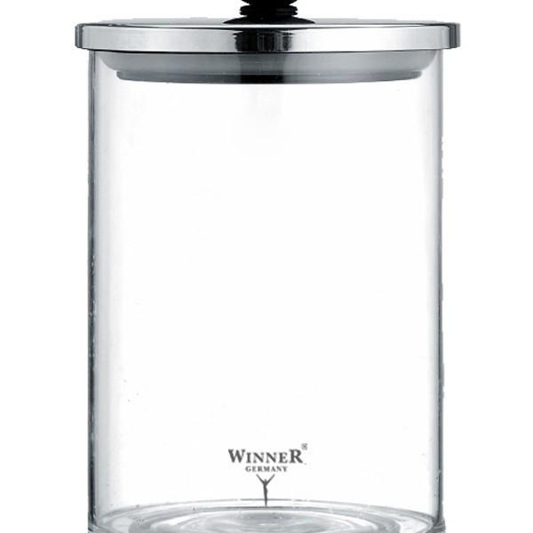 Контейнер из жаропрочного стекла 1,2 л Winner WR-6905Банки для сыпучих продуктов<br>Хотите обеспечить себе максимальный комфорт во время приготовления пищи? Тогда вы просто обязаны купить контейнер из жаропрочного стекла 1,2 л Winner WR-6905. Аксессуар отличается повышенной прочностью и эксклюзивным дизайном!<br>