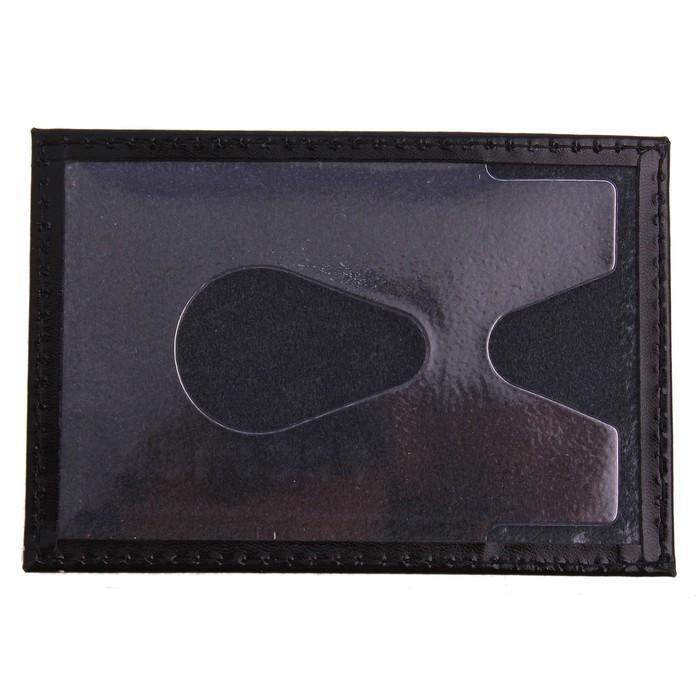 Футляр для банковской карты, кожа - чёрный глянцевый от MELEON