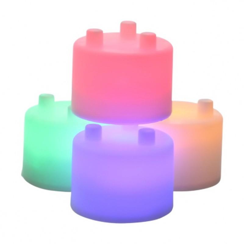 Лампа-ночник из цветных блоков - Семицветик