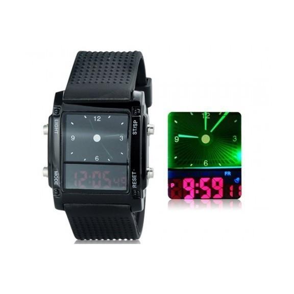 Стильные ЖК часы с двойным циферблатом Nexer 1555Спортивные LED часы<br>Стильные ЖК часы с двойным циферблатом Nexer 1555 – это лучший подарок для ценителя и ценительницы оригинальных аксессуаров. Вас порадует не только количество функций, но и возможность посмотреть на время в кромешной темноте!<br>
