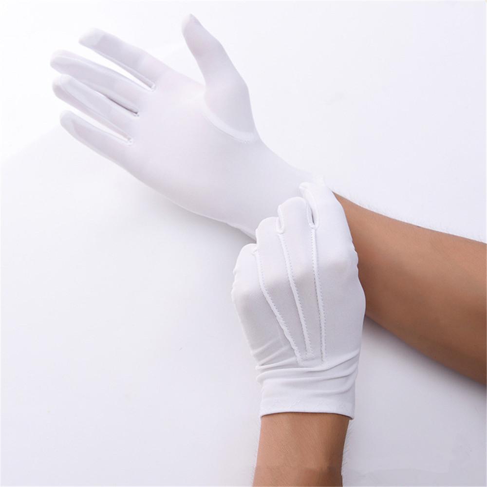 Перчатки эластичные из спандекса, белые