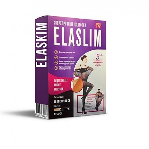 Нервущиеся колготки Elaslim, 1, Черный