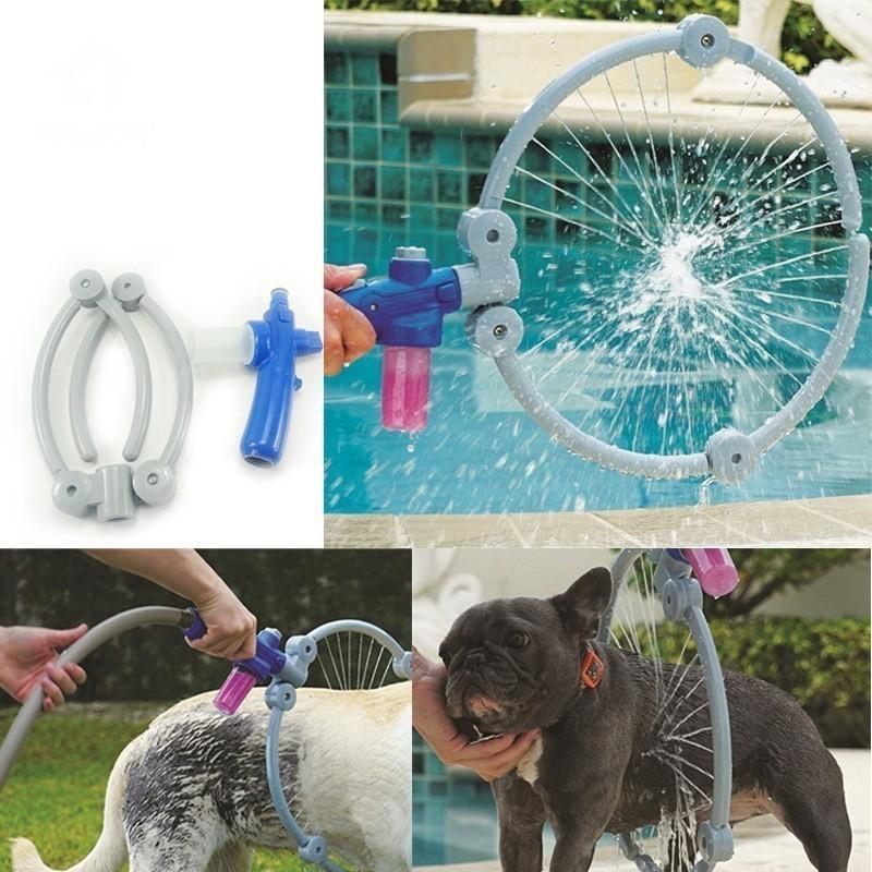 Круговой душ для мытья животныхОстальное<br>Ваш питомец не любит купаться? А вы знаете, что собак в целом не рекомендовано купать в ванной? Круговой душ для мытья животных на улице станет настоящей находкой, поскольку обеспечит животному комфортные условия, а вам – идеальную чистоту!<br>