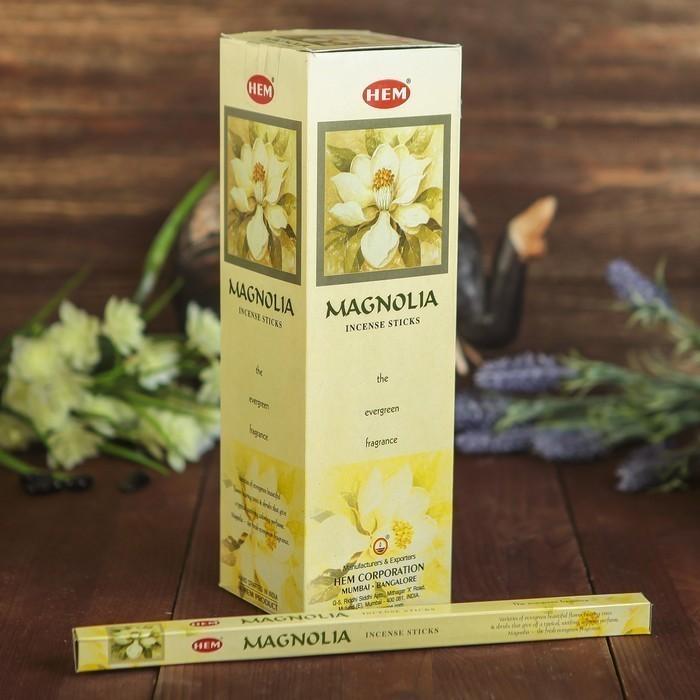 Благовония — HEM, 8 палочек угольные magnolia