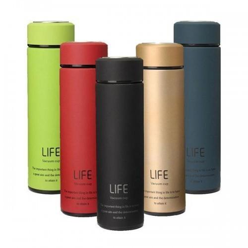 Термос Life с вакуумной крышкой, зелёный