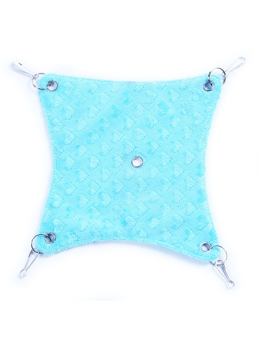 Гамак для животных на карабинах (M, 30х30 см), голубой