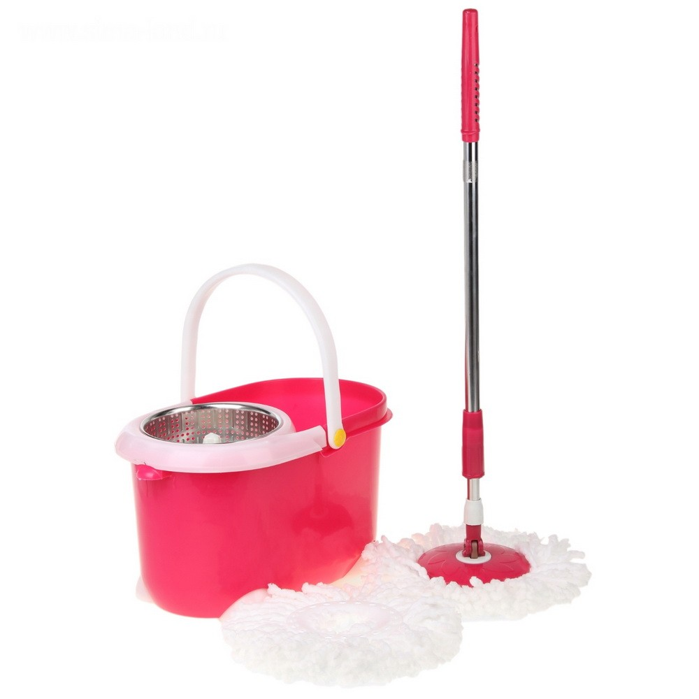 Набор для уборки - палитра: ведро с металлической