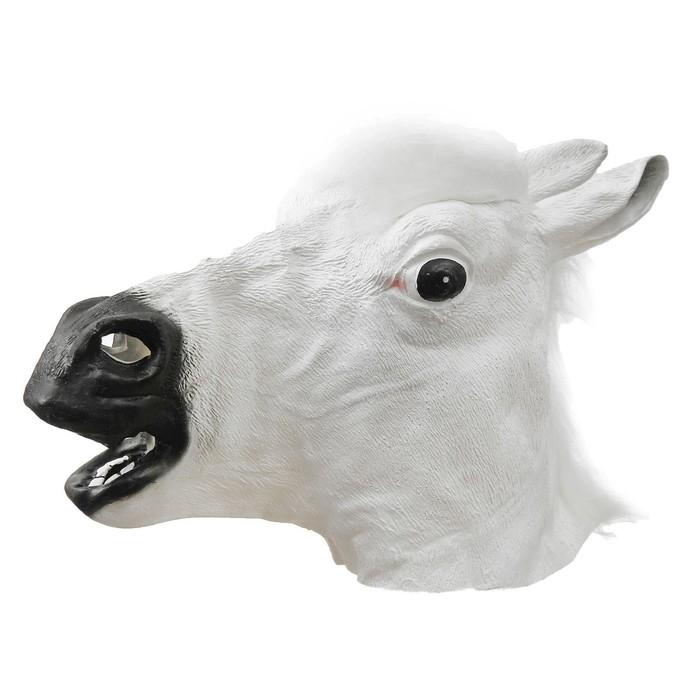 Купить Карнавальная маска - Лошадь, цвет белый, Маски