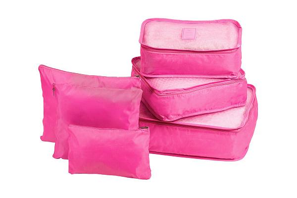 Органайзеры комплект 6 шт. однотонные, розовый