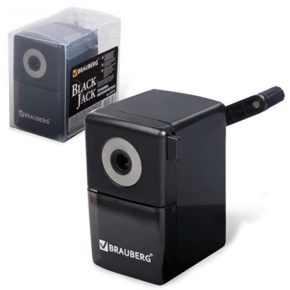 Точилка механическая для карандашей BlackJack, металлический механизмКанцелярские товары<br>Точилка для карандашей пригодится в любом доме и офисе, ведь все мы пишем или что-то рисуем. Но сначала нужно заточить карандаши!<br>