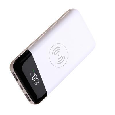 Беспроводная зарядка для телефона с индикатором заряда 8000 mAh, белый фото