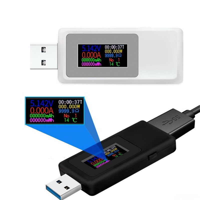 USB-тестер, чёрный