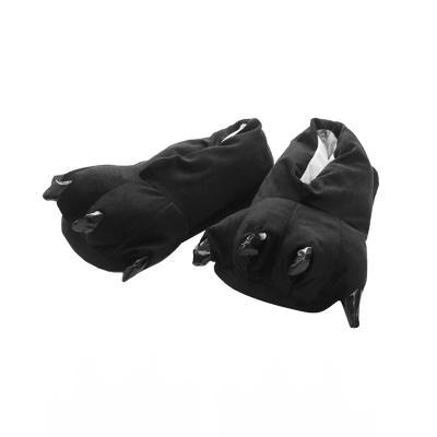 Тапочки кигуруми (тапки-лапы) в ассортименте, взрослые, 34-39 (26 см), Черный